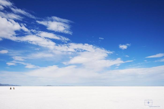 Woman Posing on Bonneville Salt Flats, Wendover, Utah