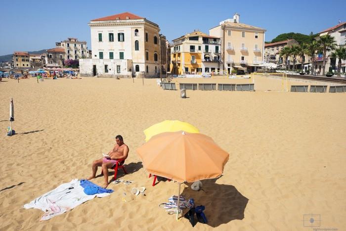 Man Reading at the Beach, Santa Maria di Castellabate, Italy