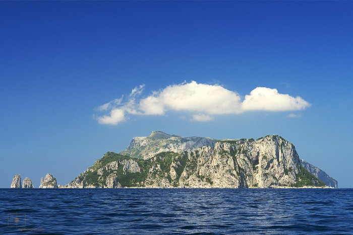 Island of Capri from the East, Italy