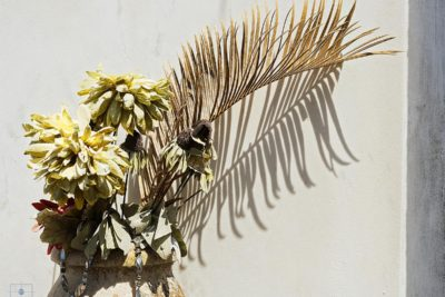 Cloth Flowers and Palms, Lafayette Cemetery No. 1, New Orleans