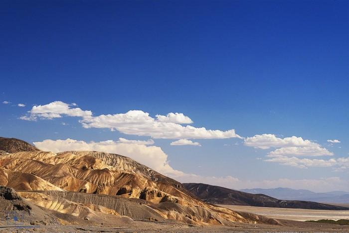 Artists Palette Looking towards Badwater Basin, Death Valley, California
