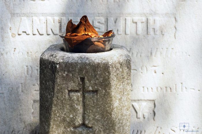 Dried Flower Petals and Cross, Lafayette Cemetery No. 1, New Orleans