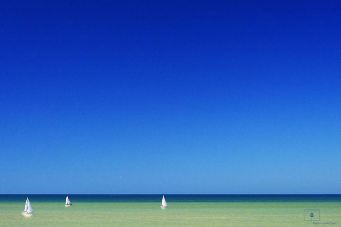 Three Sailboats on the Gulf of Mexico, Naples, Florida