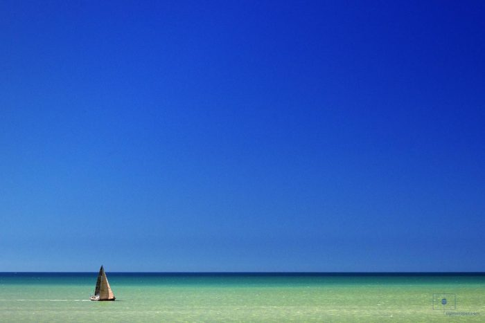 Brown Sailboat on the Gulf of Mexico, Naples, Florida