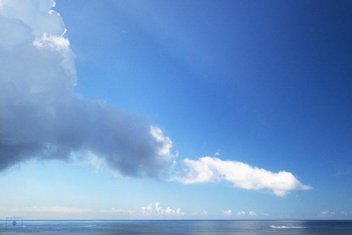 Fishing Boat and Clouds, Caswell Beach, Oak Island, North Carolina
