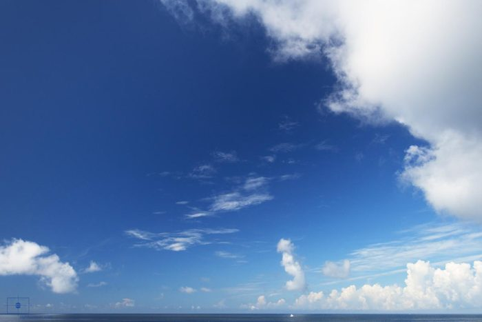Sport Boat at Anchor, Caswell Beach, Oak Island, North Carolina