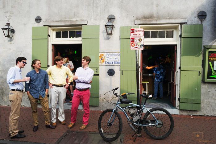 College Boys on Bourbon Street by Tropical Isle Bar, New Orleans