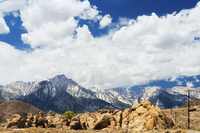 Lone Pine Peak and Mount Whitney from Alabama Hills, Lone Pine, California