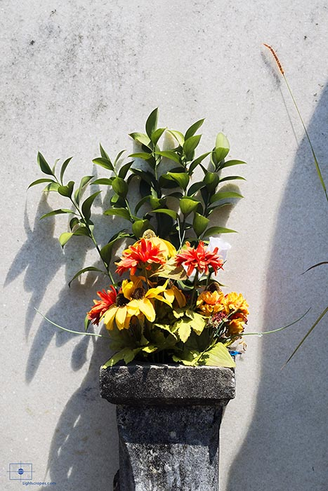 Bouquet in a Stone Urn, Lafayette Cemetery No 1, New Orleans
