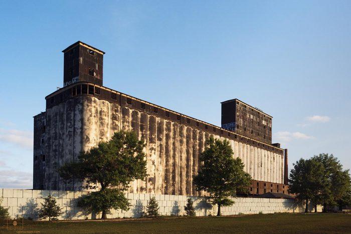 Red Hook Grain Terminal at Erie Basin in Red Hook, Brooklyn