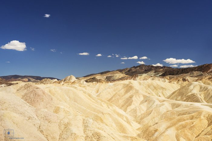 Badlands Formations and Mountains from Zabriskie Point, Death Valley, California