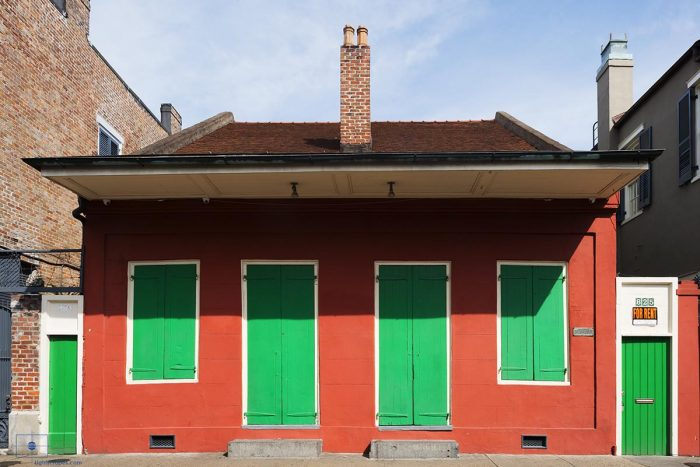 Early 19th Century French Quarter Creole Cottage, Bourbon Street, New Orleans, Louisiana