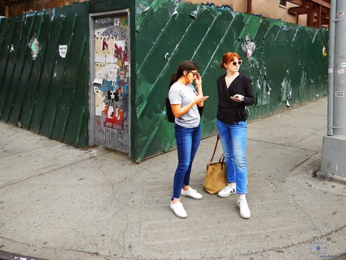 Lost Tourist Women on Phones - Lower East Side, New York City