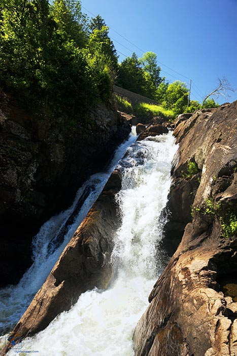 Cascading Waterfalls of the Ausable River at High Falls Gorge- Adirondacks, New York